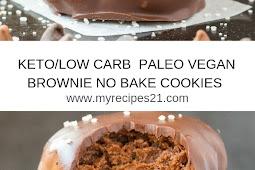 (KETO, LOW CARB)- VEGAN BROWNIE NO BAKE COOKIES