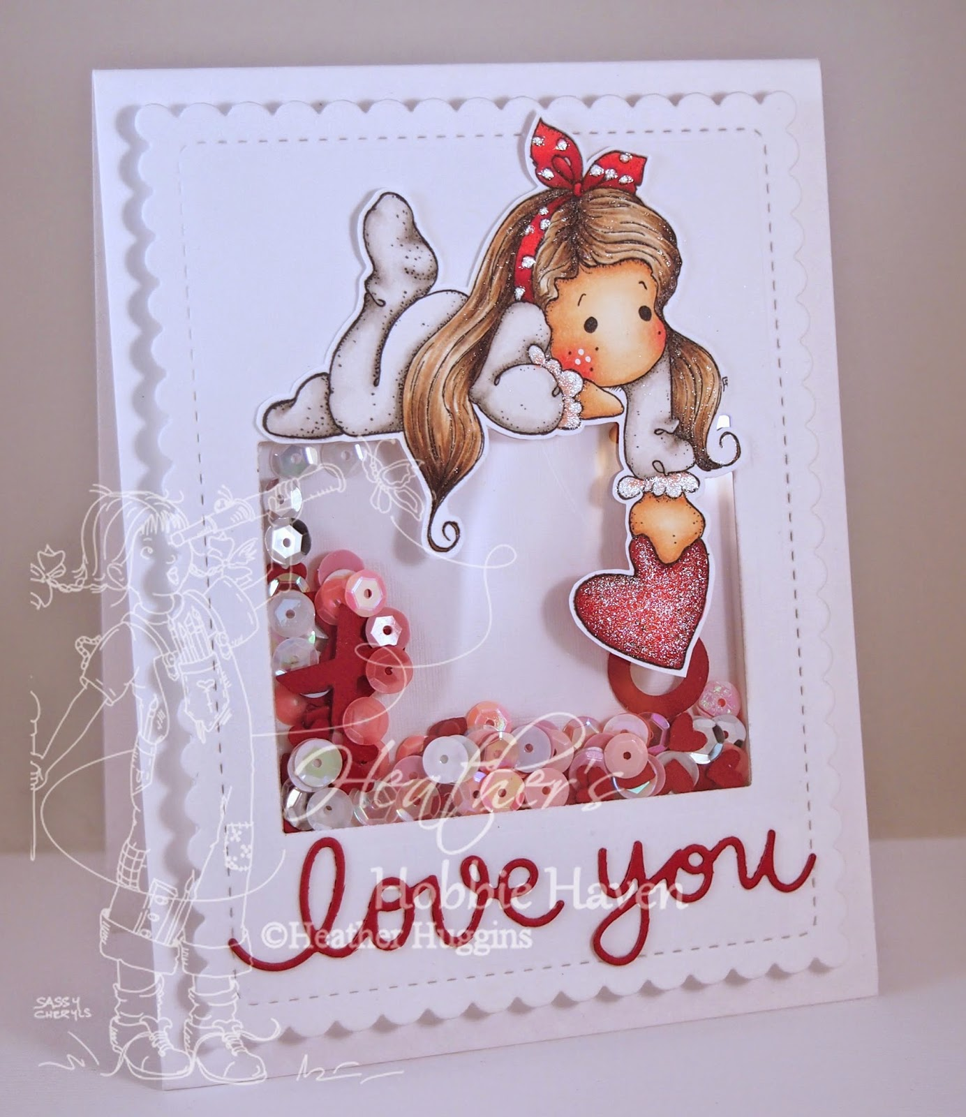 Heather's Hobbie Haven - Tilda with Dotbow Card Kit