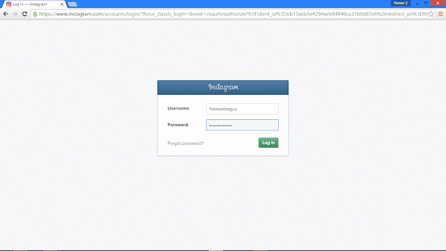 Cara Backup (Download) Semua Foto Kita yang Ada di Instagram Hermanbagus login instagram