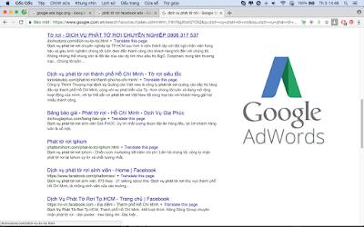 tìm kiếm khách hàng trên mạng cho dịch vụ phát tờ rơi bằng Google