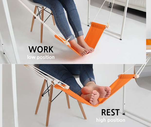Under-Desk Hammock For Your Feet