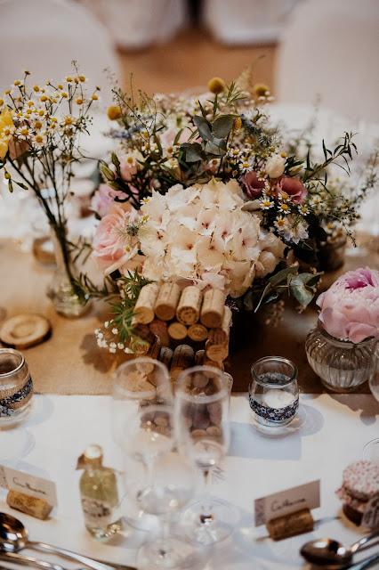 fleuriste mariage Lyon, centre de table fleuri