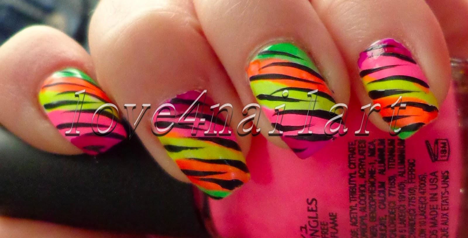 Love4NailArt: EASY Neon Animal Print Nail Art For SUMMER ...