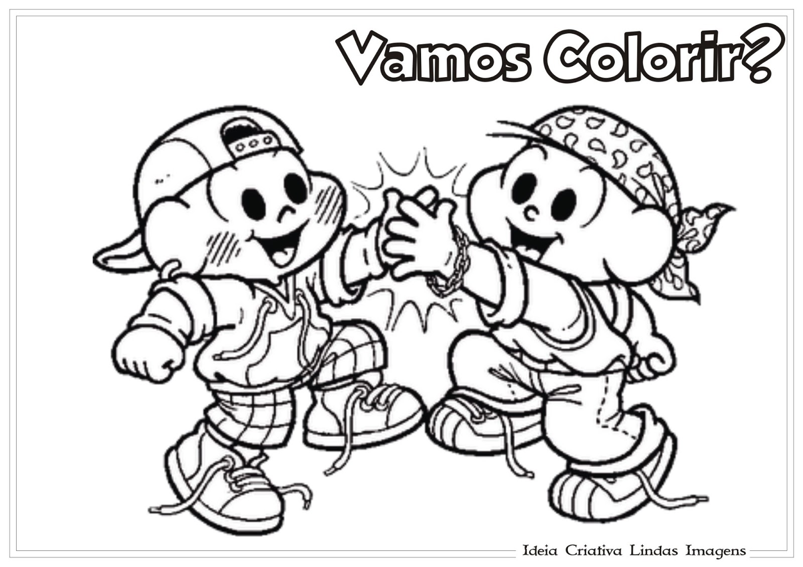 Desenho De Dia Do Amigo Para Colorir Cebolinha E Cascao Turma Da