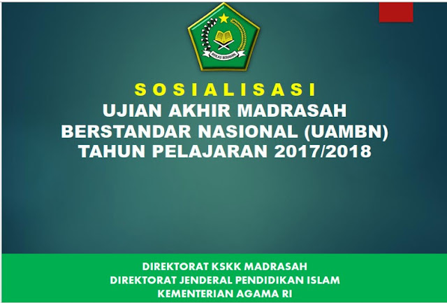 Materi Sosialisasi UAMBN 2017/2018
