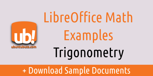 Libreoffice Math Trigonometry Equation Examples