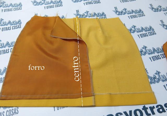 corte y confección forro para falda