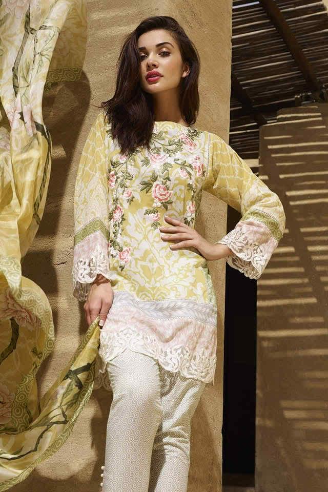 Bollywood Actress Amy Jackson For Saira Rizwan Spring Collection 2016