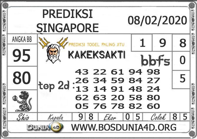 PREDIKSI TOGEL SINGAPORE DUNIA4D 08 FEBRUARI 2020