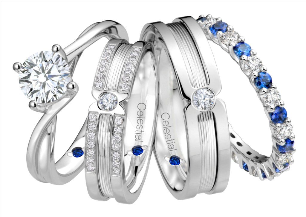 Girl About Town Get an anniversary ring from Goldheart Pure Blue