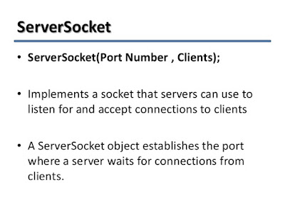ServerSocket Example in Java