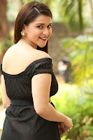 Mannara Chopra in Short Off Shoulder Black Dress ~  Exclusive 041.JPG