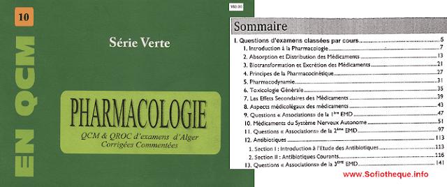 Télécharger la Série Verte Pharmacologie PDF gratuit