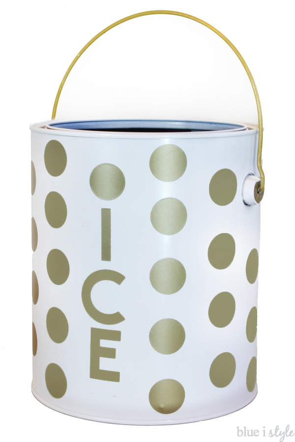 Kate Spade Inspired Gold Polka Dot Ice Bucket