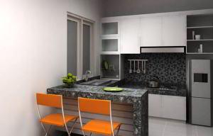 40 Desain Dapur Ruang Makan Jadi Satu Minimalis Sempit