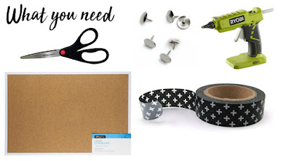 What You Need - DIY Cork Board Craft Ideas - How to Turn a Cork Board into a Personalized Weekly To Do List For Your Office