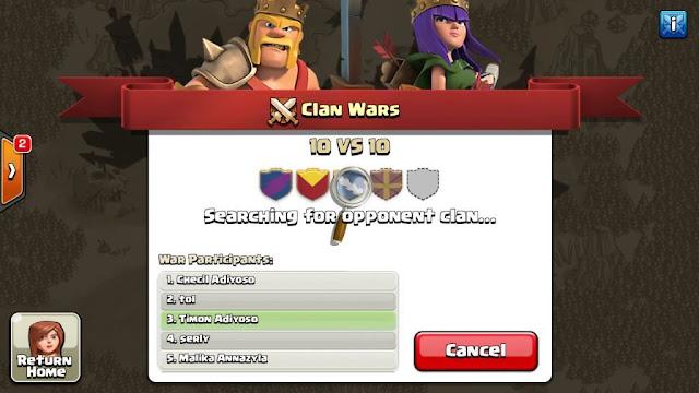 Cara Star dan menyusun Peserta WAR game COC supaya dapat musuh Ringan
