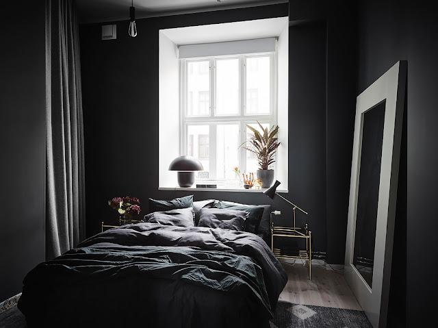 dormitor negru