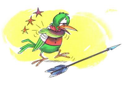 el pájaro herido por una flecha fabula
