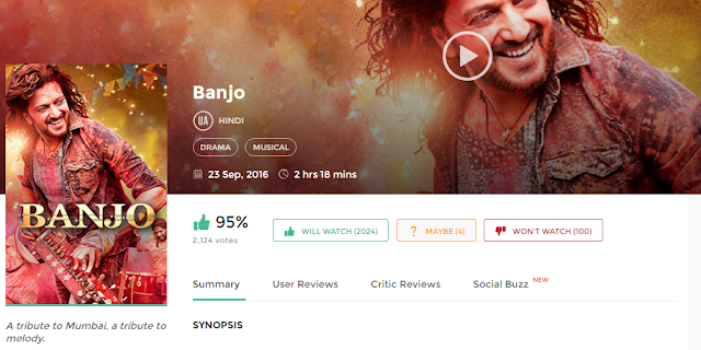 Banjo (2016) Full Hindi Movie 3gp Mp4 Hq Hd Avi 720P Download
