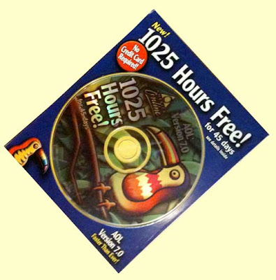 AOL CD with 1025 hours free!