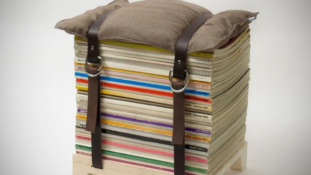 taburete, reciclar, creatividad, ingenio, inventos, bricolaje
