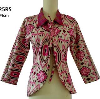 Model Baju Batik Kombinasi Bolero modern