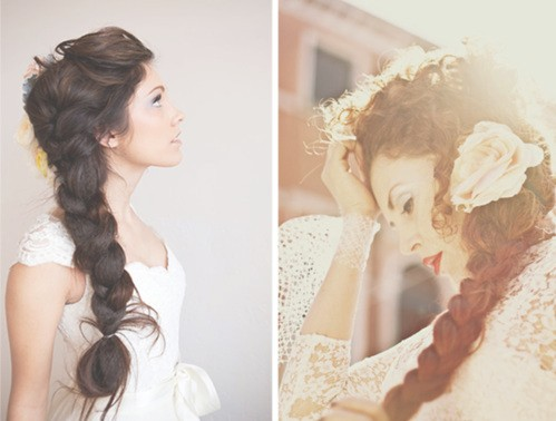 Side Braided Hairstyles Wedding Hair