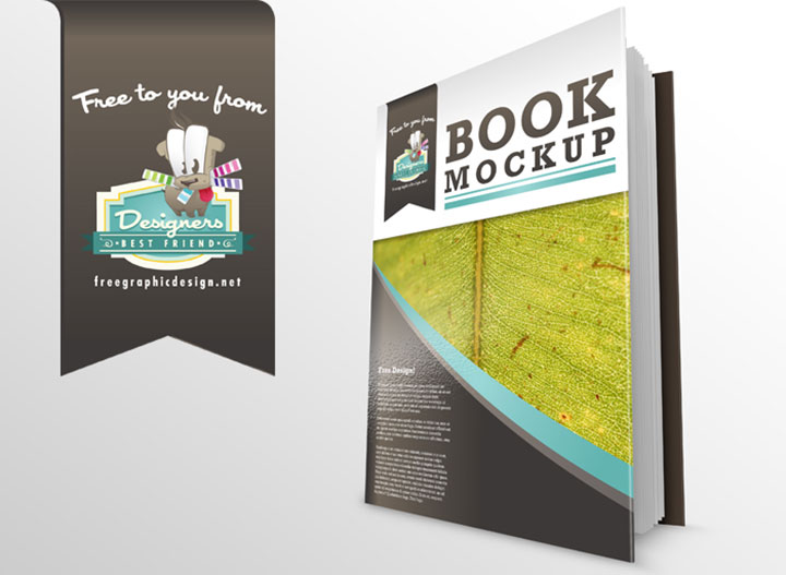 Clean Book PSD Mockup