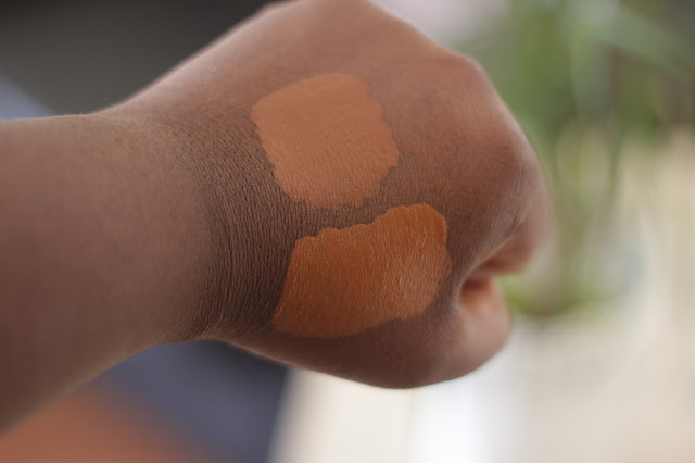 Swatch and Review on Nars and Mac liquid foundations for darker skin women