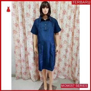 MOM057D16 Dress Hamil Menyusui Cathrina Jeans Dresshamil Ibu Hamil