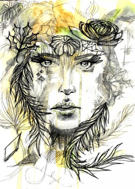 nature art drawings