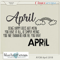 Word Art : AYOB April 2018 by Blue Heart Scraps