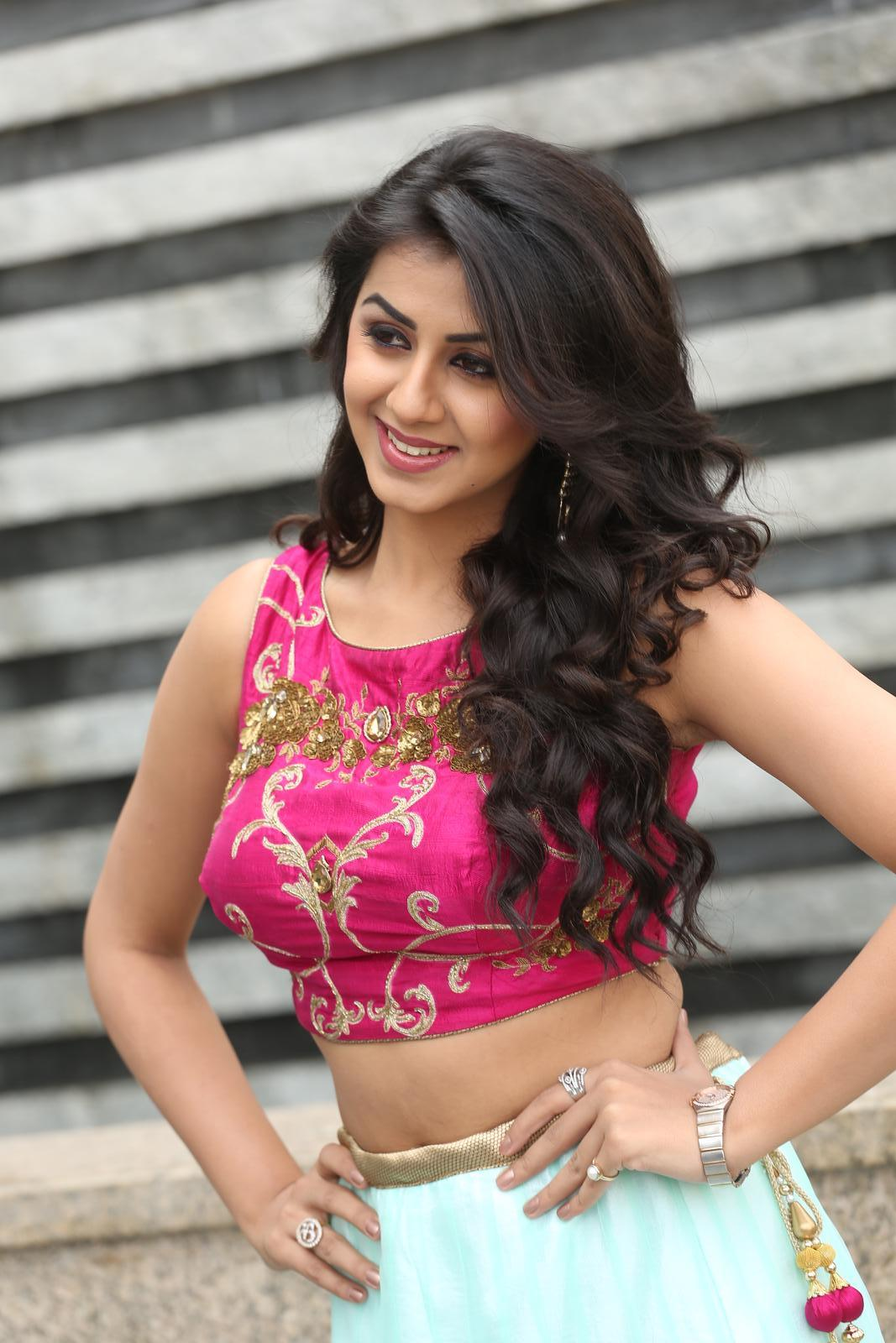 Nikki Galrani Latest Hot Photoshoot In Pink Dress