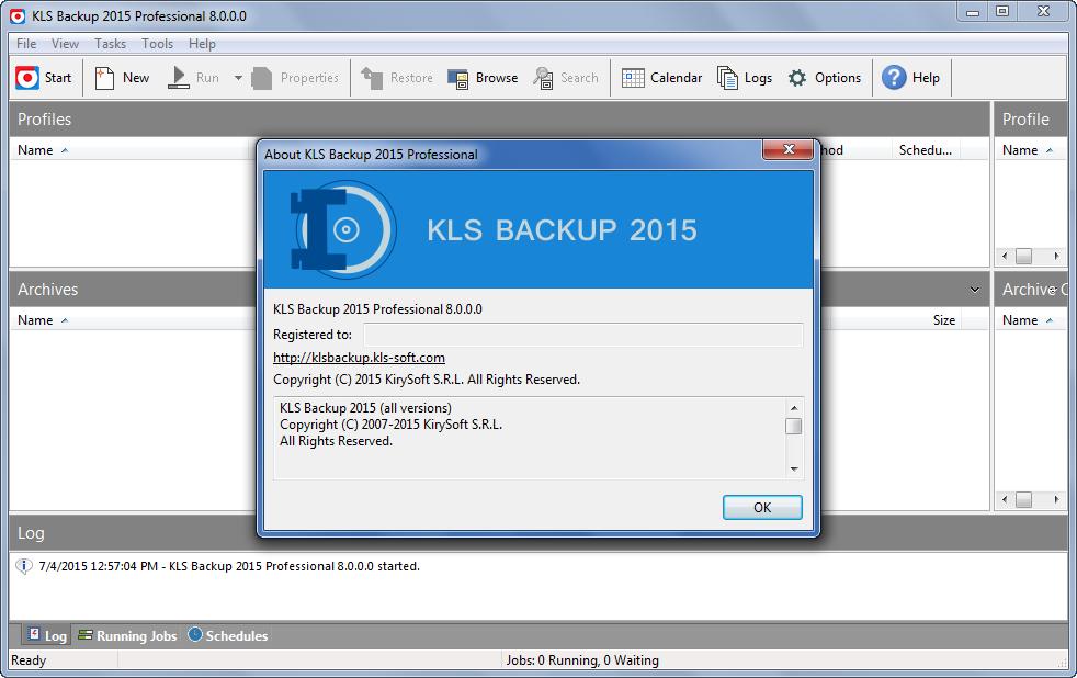 KLS Backup Professional 2015 Free