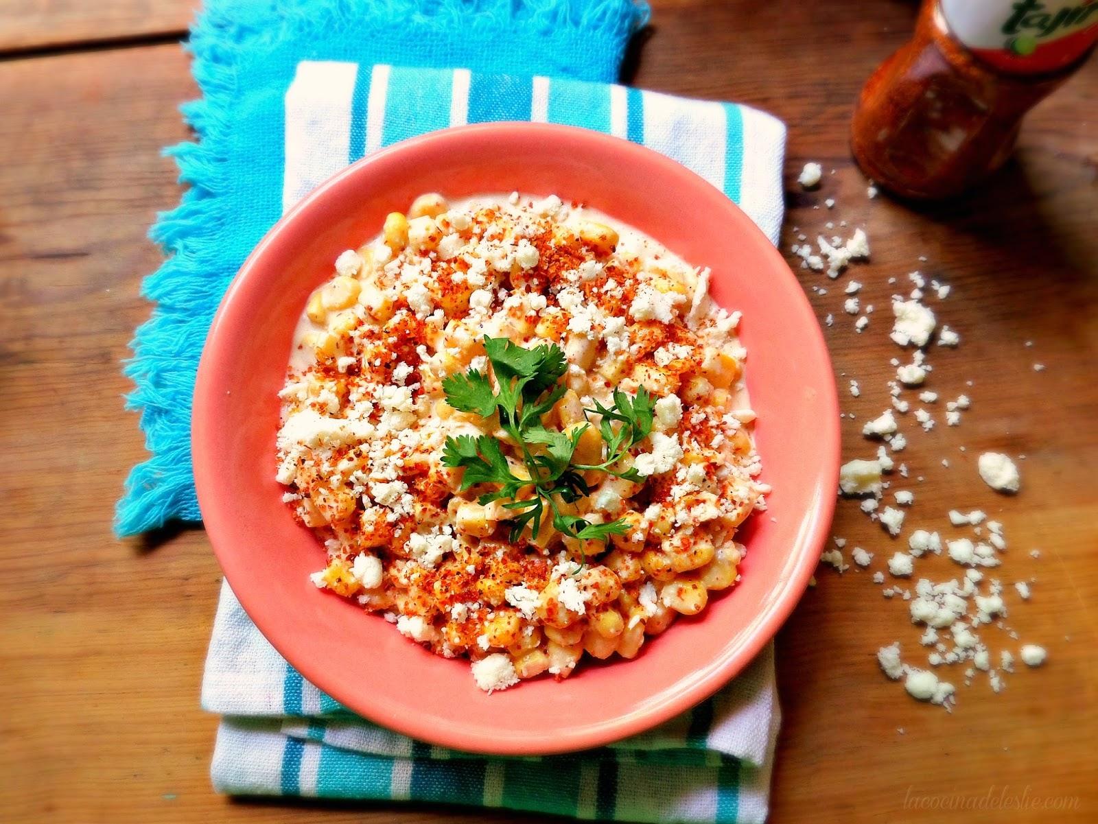 Ensalada de Esquites (Mexican Street Corn Salad) - lacocinadeleslie.com
