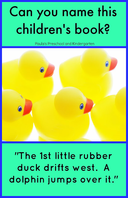 Can You Name This Children's Book?  Children's literature series from Paula's Preschool and Kindergarten