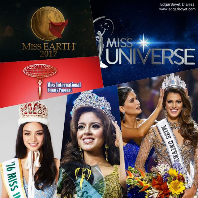 Miss Universe 2017-Miss Earth 2017-Miss International 2017-Elite Pageants