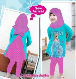Model baju frozen anak perempuan