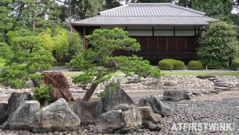 Waraku-an Teahouse nijo castle Kyoto Japan stone garden