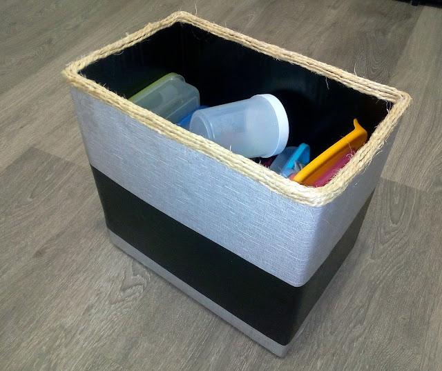 caixa reciclada