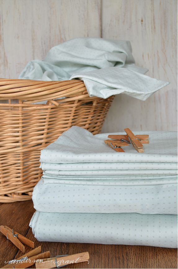 Martha Stewart's tip on how to fold a fitted sheet | www.andersonandgrant.com