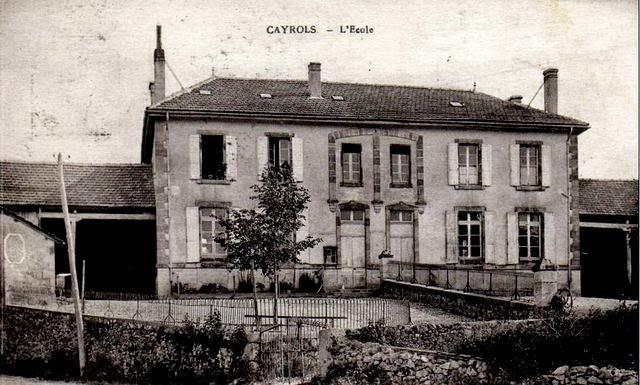 CPA Cantal école ce Cayrols