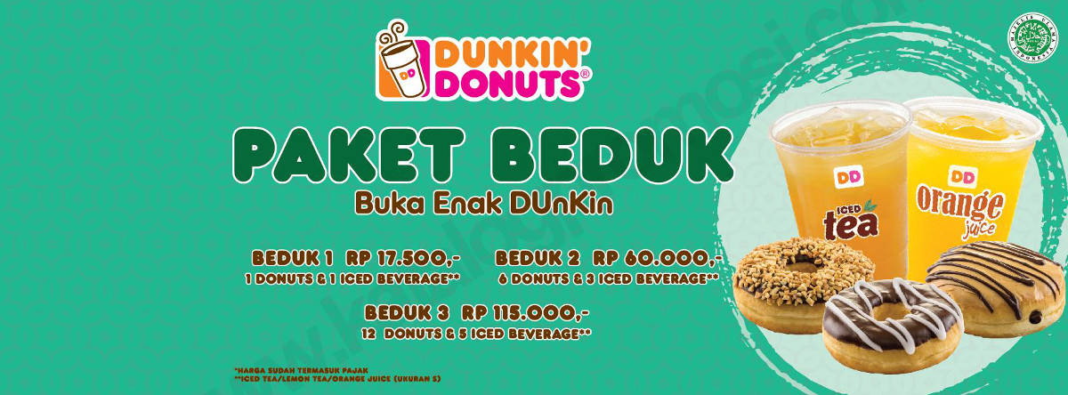 Menu dan Harga Dunkin Donuts Promo Paket Beduk (Buka Enak DUnKin) 2017