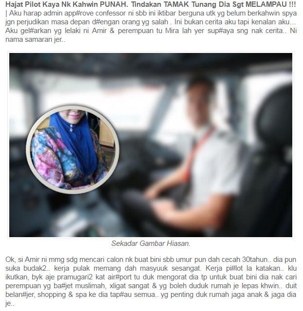 Hasrat Pilot, Kahwin Pilot, Kisah Pilot, Pilot Hensem, Pilot Kaya, Suami Pilot, Tunang Pilot