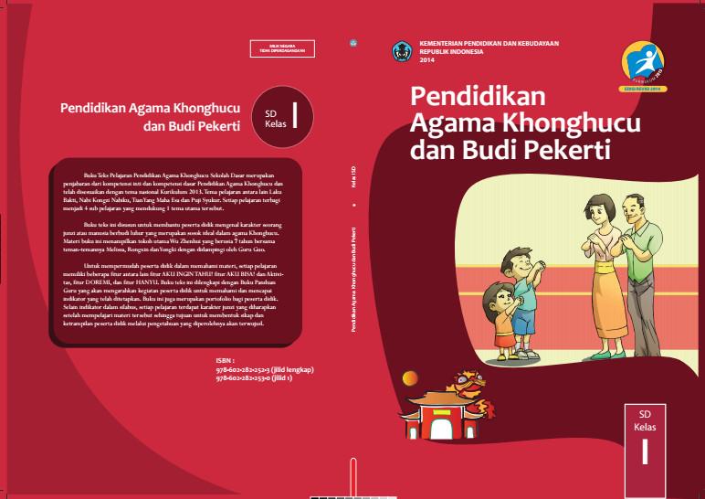 Download Gratis Buku Siswa Pendidikan Agama Khonghucu dan Budi Pekerti Kelas 1 SD Kurikulum 2013 Format PDF