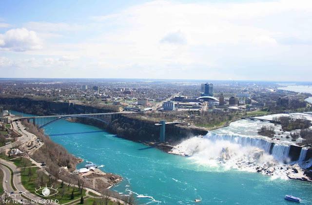 My Travel Background : 4 jours au Canada - Les chutes du Niagara vues de la Skylon Tower