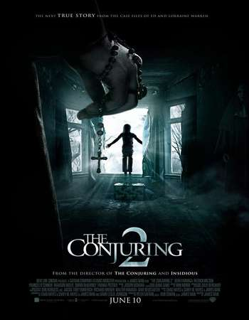 Poster Of The Conjuring 2 2016 Dual Audio 720p BRRip [Hindi - English] ESubs Free Download Watch Online Worldfree4u