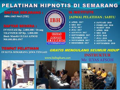 Kursus Pelatihan Pelatihan dan Sertifikasi Hipnotis Semarang 2017 2018