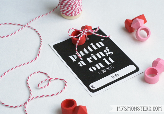 Darling!!  Four non-candy valentine ideas even teens and tweens can appreciate with FREE PRINTABLES at my3monsters.com
